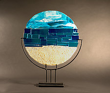 Serenity II by Vicky Kokolski and Meg Branzetti (Art Glass Sculpture)