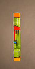 House Party Green II by Vicky Kokolski and Meg Branzetti (Art Glass Wall Sculpture)