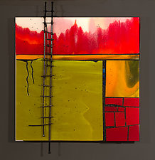 Ascent by Vicky Kokolski and Meg Branzetti (Art Glass Wall Sculpture)