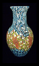 Tropicalia Murrini Vase by Michael Egan (Art Glass Vase)