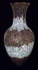 Deep Purple Broadband Murrini Vase by Michael Egan (Art Glass Vase)