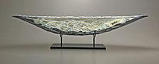 London Fog Boat by Nicholas Stelter (Art Glass Sculpture)