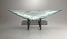 Ocean Breeze Boat by Nicholas Stelter (Art Glass Sculpture)