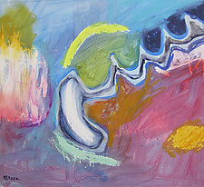 Runaway Amoeba by Jim Barker (Mixed-Media Painting)