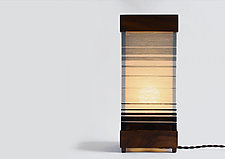 Tall Strata Table Lamp by Jorgelina Lopez and Marco  Duenas (Mixed-Media Table Lamp)