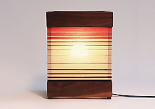 Strata Table Lamp by Jorgelina Lopez and Marco  Duenas (Mixed-Media Table Lamp)