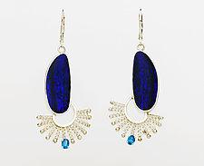 Fandango Silver Boulder Opal Double Earrings with Apatite by Marie Scarpa (Silver & Stone Earrings)