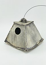 Textured Bird House by Cheryl Wolff (Ceramic Bird Feeder)