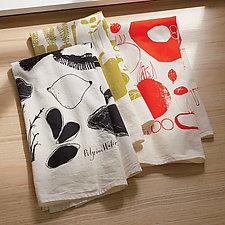 Bon Appetit Tea Towel Set by PilgrimWaters  (Cotton Tea Towel)