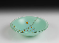 Little Robin's Egg Bowl by Jacquelyne Collett (Art Glass Bowl)