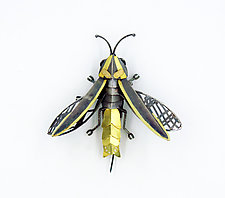 Firefly Brooch by Seth Carlson (Gold, Silver & Stone Brooch)