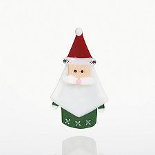 Kris Kringle by Dianne Popik (Art Glass Ornament)
