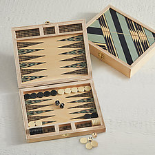 Sybil Seafoam Backgammon Set by Wolfum (Wood Game)
