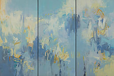 Refresh Triptych by Karen Scharer (Oil Painting)