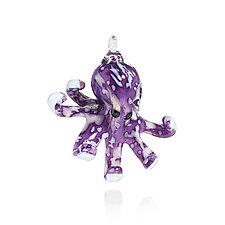 Purple Octopus by Zach Yuskanich (Art Glass Ornament)