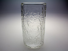 Textured Clear Pint Glasses by Dan Albrecht (Art Glass Drinkware)