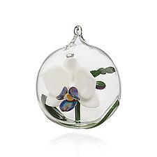 Christmas Orchid by Dan Albrecht (Art Glass Ornament)