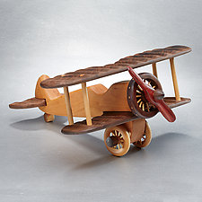 Biplane by Baldwin Toy Co. (Wood Sculpture)