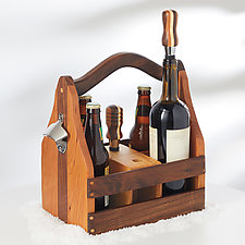 Wine and Beer Caddy by Baldwin Toy Co. (Wood Barware)
