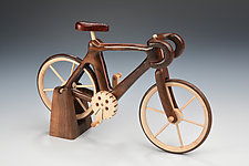Walnut Road Bicycle by Baldwin Toy Co. (Wood Sculpture)