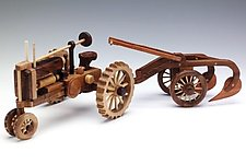 Tractor with Plow by Baldwin Toy Co. (Wood Sculpture)