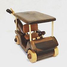 Golf Cart by Baldwin Toy Co. (Wood Sculpture)