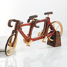 Bubinga Tandem Bicycle by Baldwin Toy Co. (Wood Sculpture)