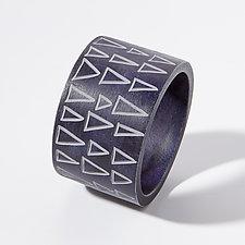 Triangle Cuff Bracelet by Genevieve Williamson (Polymer Clay Bracelet)