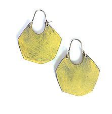 Facet Hoop Earrings by Genevieve Williamson (Polymer Clay Earrings)
