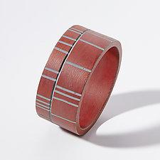 Divided Stripe Cuff Bracelet by Genevieve Williamson (Polymer Clay Bracelet)