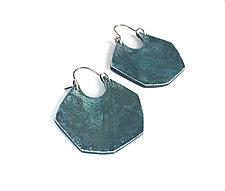 Facet Hoop Earrings by Genevieve Williamson (Polymer Clay Earrings)