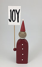 North Pole Picketers by Hilary Pfeifer (Wood Sculpture)