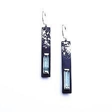 Long Aquamarine Earrings by Deborah Vivas and Melissa Smith (Gold, Silver & Stone Earrings)
