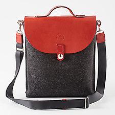 SideCar Bag by Audrey Jung (Leather & Felt Purse)