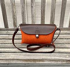 Bisou Bag by Audrey Jung (Leather & Felt Purse)