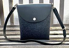 Mini SideCar Bag by Audrey Jung (Leather & Felt Purse)