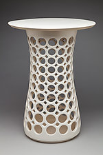 Hourglass Table by Lynne Meade (Ceramic Pedestal Table)
