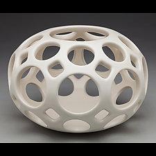 Open Work Orb by Lynne Meade (Ceramic Candleholder)