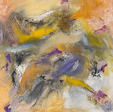 Imagination Gray Orange by Marion Kahn (Oil Painting)