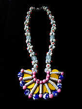 Bubblegum Pop Necklace by Hilary Hertzler (Mixed-Media Necklace)