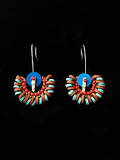 Summer Earrings 1 by Hilary Hertzler (Mixed-Media Earrings)