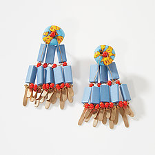 Fringe Earrings by Hilary Hertzler (Mixed-Media Earrings)