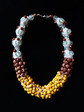 Organic Necklace by Hilary Hertzler (Glass & Silk Beaded Necklace)