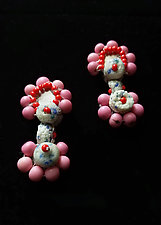 Bubblegum Pop Earrings by Hilary Hertzler (Mixed-Media Earrings)