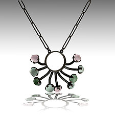 Sea Anemone Necklace by Nina Scala (Silver & Glass Necklace)