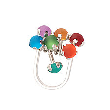 Rainbow Fidget Ring by Nina Scala (Silver & Stone Ring)