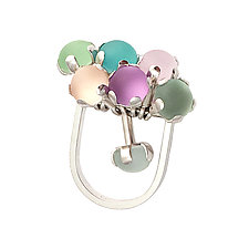 Pastel Fidget Ring by Nina Scala (Silver & Glass Ring)