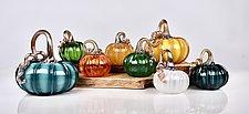 Pumpkin Grouping by Peter Stucky and Dana Rottler (Art Glass Sculpture)