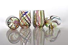 Rainbow Glasses by Peter Stucky and Dana Rottler (Art Glass Drinkware)