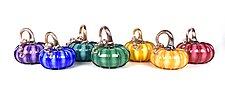 Striped Glass Pumpkins by Peter Stucky and Dana Rottler (Art Glass Sculpture)